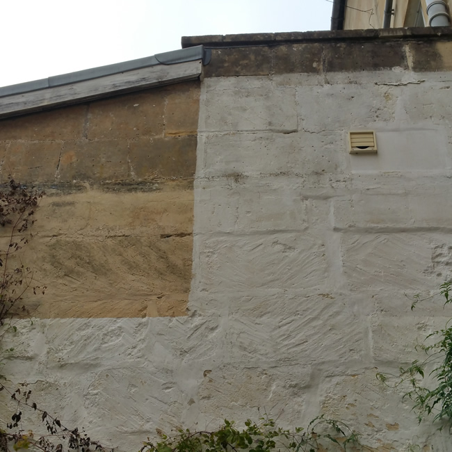 Cleaning Bath stone walls